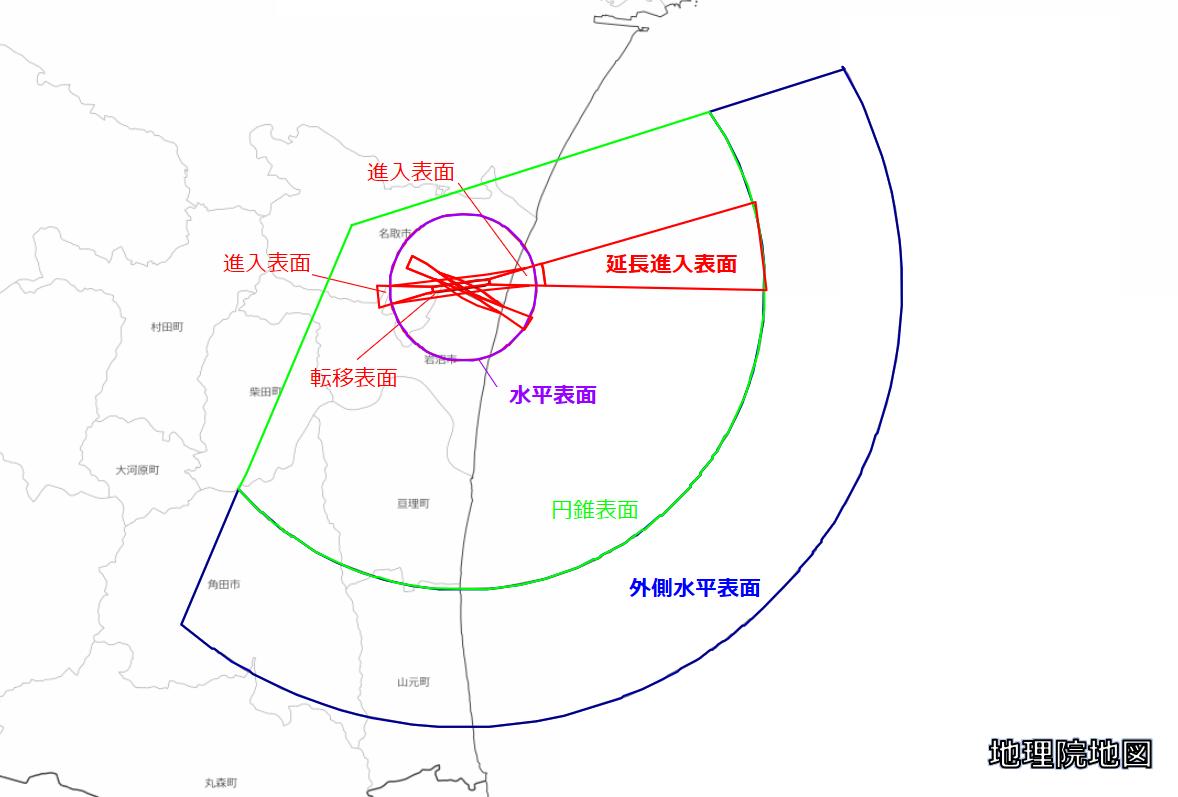 仙台空港高さ制限回答システム